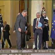 Les chefs des partis politiques reçus à l'Élysée