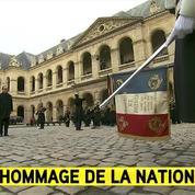 La Marseillaise est jouée pendant l'arrivée du président