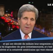 Kerry : l'accord de la COP21 «va transformer l'économie mondiale»