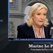 Donnée perdante par un sondage, Marine Le Pen raille le barrage républicain