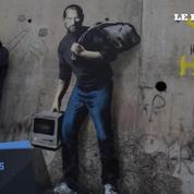 Banksy installe Steve Jobs à Calais