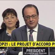 COP21 : Pour F. Hollande, le texte préparé et soumis est ambitieux et réaliste