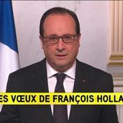 Terrorisme, sécurité, emploi, service civique: les voeux de François Hollande
