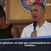 Obama aux Marines : « Je vais bosser encore plus fort !»