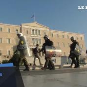 Trois mille manifestants à Athènes