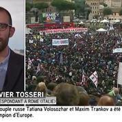 Italie : des milliers de manifestants contre le mariage gay à Rome