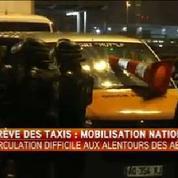 Mobilisation des taxis : un incident grave à Orly
