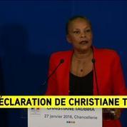 Christiane Taubira: je quitte le gouvernement sur un désaccord politique majeur