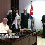 Rencontre historique entre le pape François et le patriarche orthodoxe Kirill