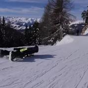 Le buggy ski, ce nouveau sport qui permet de skier dans toutes les positions