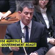 Valls annonce une année blanche fiscale pour les agriculteurs les plus pauvres