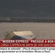 Le Modern Express arrive dans le port de Bilbao