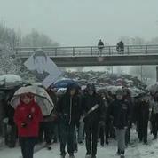 A Pontarlier, marche blanche en hommage à Laureen et Mathis