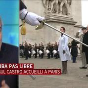 Raul Castro accueilli en grande pompe à Paris