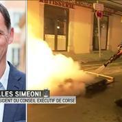 Gilles Simeoni en désaccord total avec les incidents de Corte