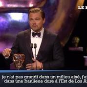 Leonardo Di Caprio remercie sa mère après avoir reçu son Bafta