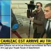 Jérôme Cahuzac arrive à son procès