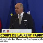 L'émotion de Laurent Fabius qui quitte le Quai d'Orsay