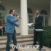 Le rap improvisé de Barack Obama dans les jardins de la Maison Blanche