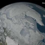 La couche de glace hivernale de l'Arctique atteint son niveau le plus bas