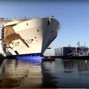A Saint-Nazaire, premiers essais pour le plus grand paquebot du monde