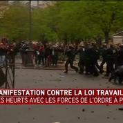 Des incidents place de la Nation en marge de la manifestation contre la loi Travail