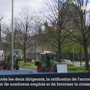 Des milliers d'Allemands manifestent contre l'accord de libre-échange à Hanovre