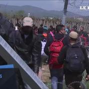 Violents affrontements entre police et migrants à la frontière gréco-macédonienne