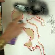 Portrait de Missekat, 80 ans, doyenne du street-art en France