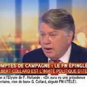 Comptes de campagne du FN : «Il n'y a pas de malhonnêteté» assure Gilbert Collard