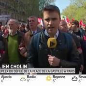 1er mai : le cortège est parti de la place de la Bastille
