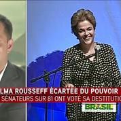 Dilma Rousseff a été suspendue de la présidence du Brésil par le Sénat