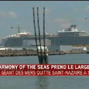 Saint-Nazaire: Harmony of the Seas prend le large