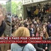 Paris: Des manifestants réclament la légalisation du Cannabis