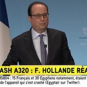Crash du vol EgyptAir: «Nous aurons la vérité», déclare François Hollande