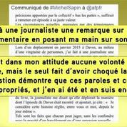 Michel Sapin reconnaît un geste inapproprié envers une journaliste