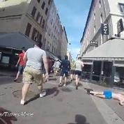 Un supporter russe se filme pendant les violences à Marseille
