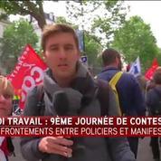 Manif 14 juin : A Paris, incidents entre casseurs et forces de l'ordre à l'avant du cortège, 15 interpellations