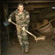 En Alsace, les cheminots en grève aident les sinistrés des inondations