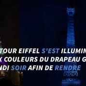 La Tour Eiffel éclairée en hommage aux victimes d'Orlando