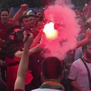 Les supporters Turcs mettent une ambiance de feu à Lens