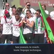 Cristiano Ronaldo remercie le Portugal après la victoire de l'Euro 2016