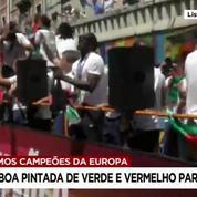 Euro 2016 : la parade de l'équipe du Portugal dans les rues de Lisbonne