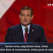 Ted Cruz refuse d'appeler à voter pour Donald Trump