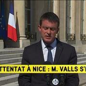 Attentat de Nice : Nous faisons face à une guerre que le terrorisme nous livre, estime Manuel Valls