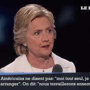Hillary Clinton: « j'accepte avec humilité votre nomination »
