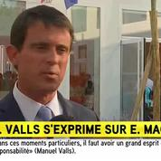 Démission de Macron: «Moi j'ai un principe, c'est la loyauté», déclare Valls