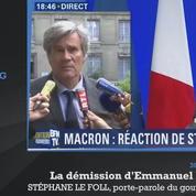 Démission d'Emmanuel Macron : les premières réactions politiques