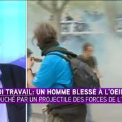 Manifestation anti-loi Travail à Paris : un syndicaliste perd l'usage d'un oeil