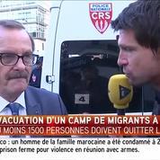 Évacuation d'un camp de migrants à Paris
